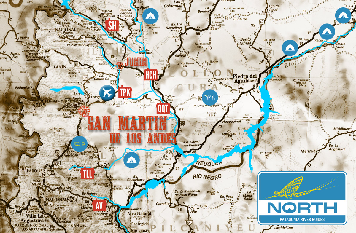 Patagonia Argentina Rivers Where We Fly Fish - Junin argentina map